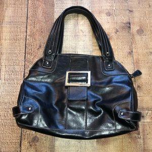 💫 NINE WEST Black Faux Leather Handbag